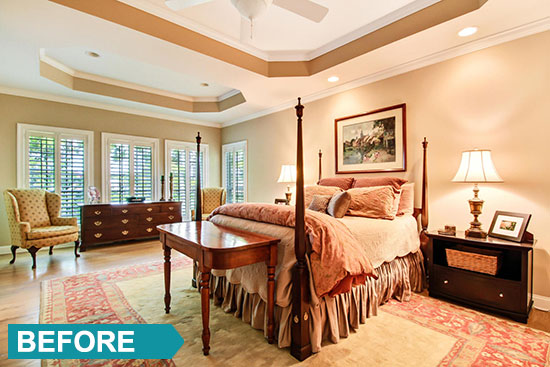 Simple solutions for your master bedroom